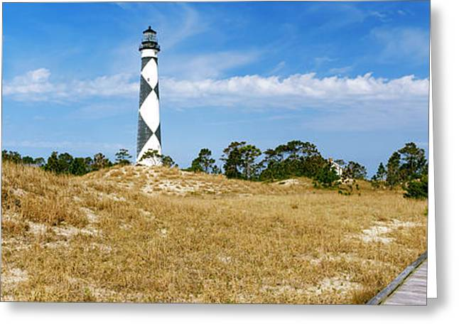 Cape Lookout Lighthouse, Outer Banks Greeting Card by Panoramic Images