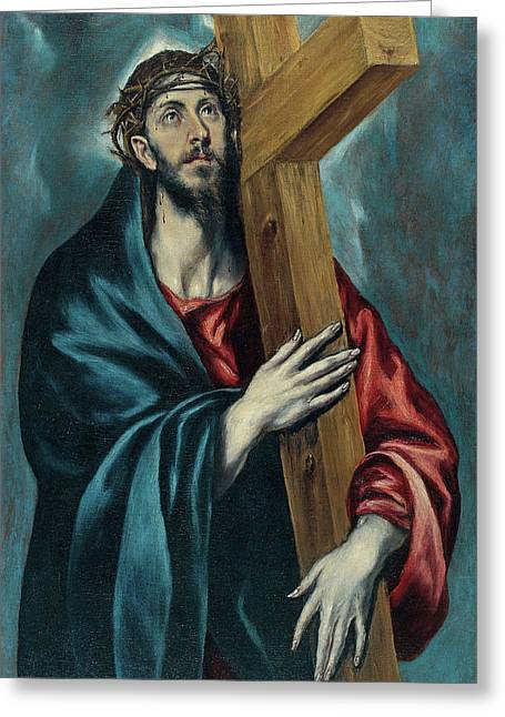 Christ Carrying The Cross Greeting Card by El Greco