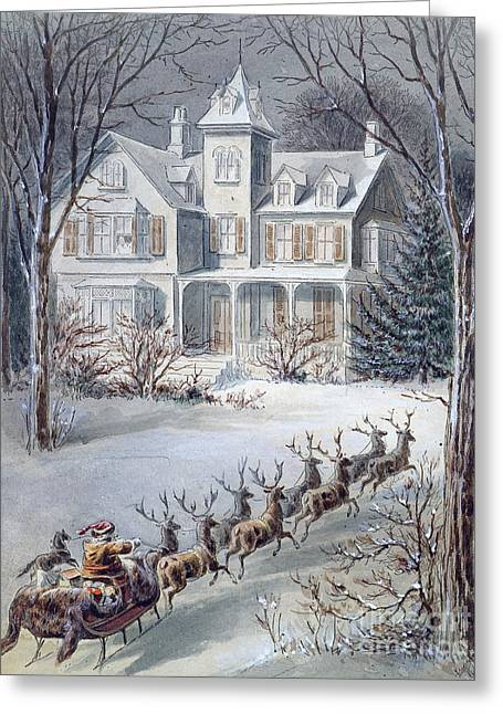 Christmas Card Greeting Card by American School