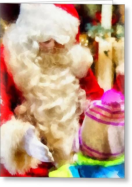 Christmas Santa Claus Greeting Card by Esoterica Art Agency