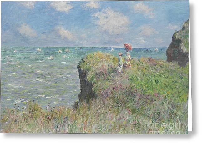 Cliff Walk At Pourville Greeting Card