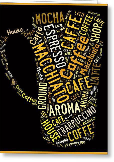 Coffee Menu Collection Greeting Card