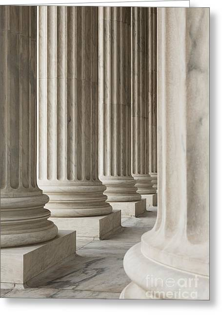Columns Of The Supreme Court Greeting Card by Roberto Westbrook