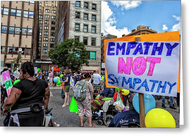 Disability Pride Parade Nyc 2016  Greeting Card by Robert Ullmann