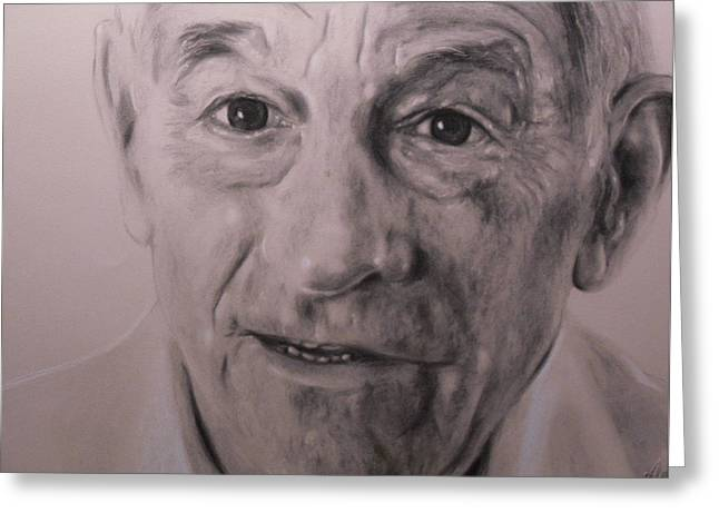 Dr. Ron Paul Greeting Card by Adrienne Martino