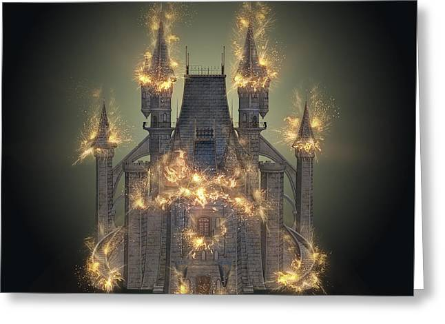 Fantasy Castle Greeting Card by Humorous Quotes
