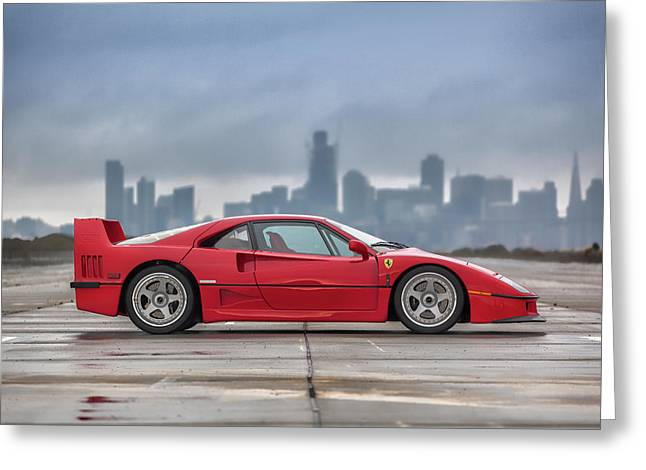 #ferrari #f40 #print Greeting Card
