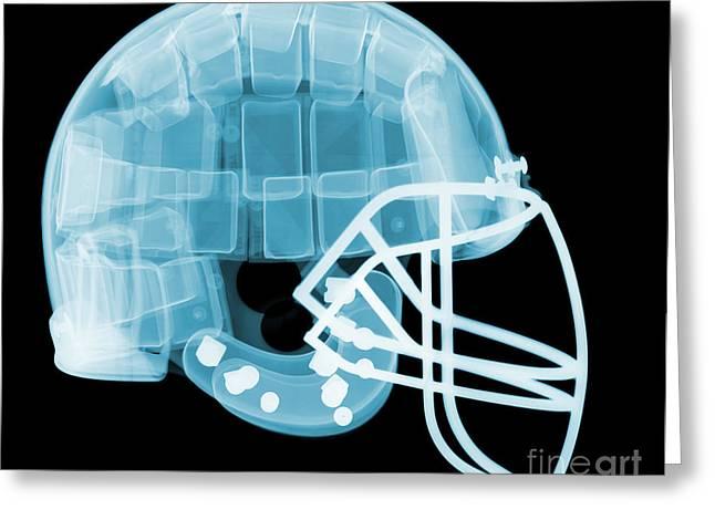 Football Helmet X-ray Greeting Card