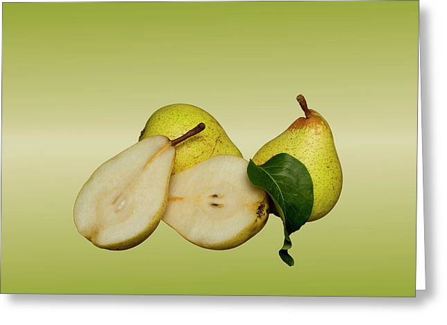 Fresh Pears Fruit Greeting Card