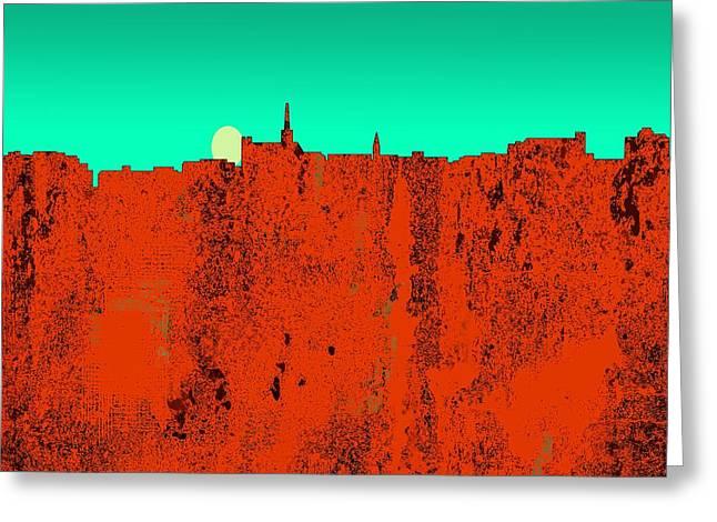 Geelong  Australia Skyline Greeting Card