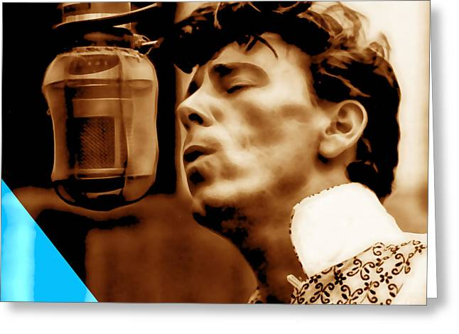 Gene Vincent Collection Greeting Card by Marvin Blaine