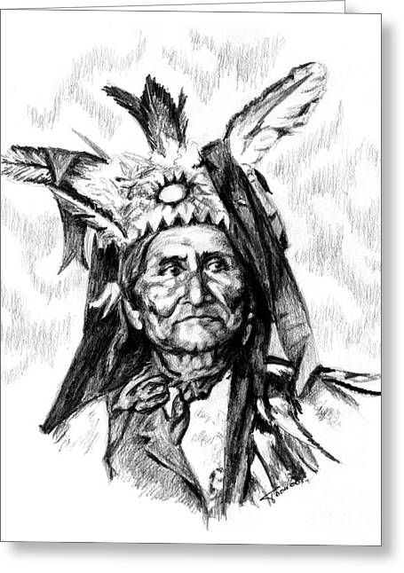 Geronimo Greeting Card by Toon De Zwart