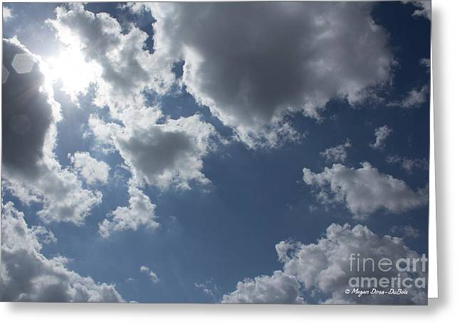 Greeting Card featuring the photograph 6-gon Boken Sky by Megan Dirsa-DuBois
