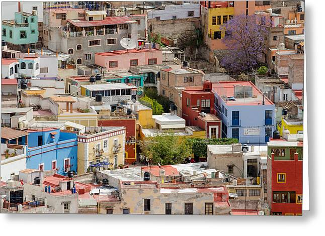 Guanajuato, Mexico. Greeting Card by Rob Huntley