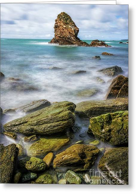 Greeting Card featuring the photograph Gwenfaens Pillar by Ian Mitchell