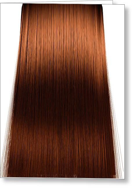 Hair Perfect Straight Greeting Card