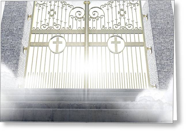 Heavens Gates Greeting Card