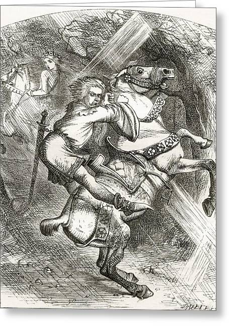 Illustration By J. Tenniel, To The Poem Greeting Card by Vintage Design Pics