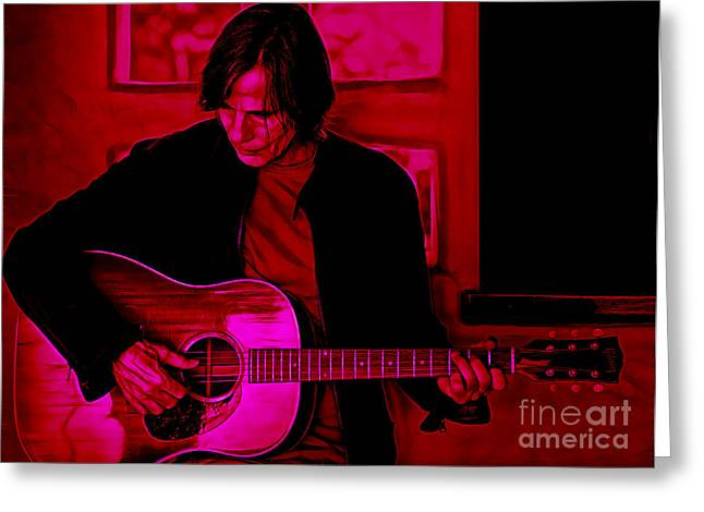 Jackson Browne Collection Greeting Card by Marvin Blaine