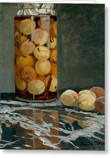 Jar Of Peaches Greeting Card
