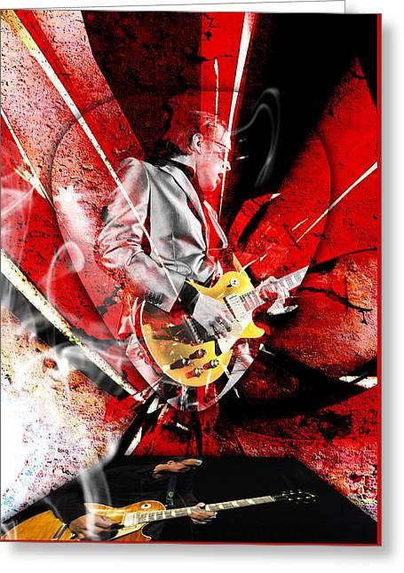 Joe Bonamassa Blues Guitarist Art. Greeting Card by Marvin Blaine