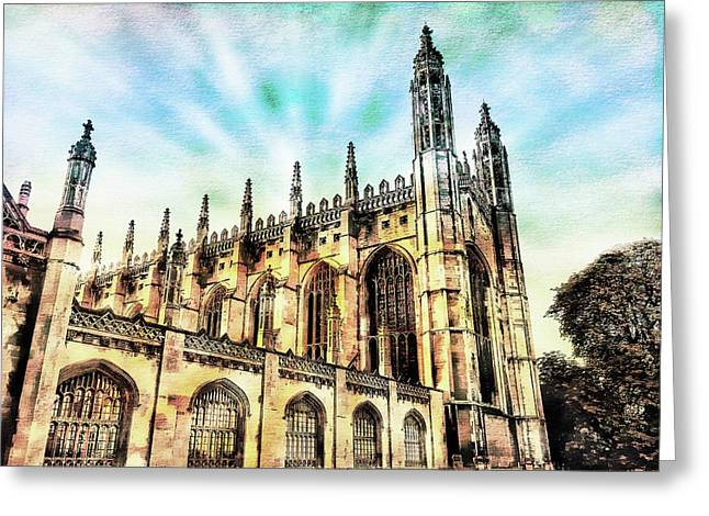 Kings College Cambridge Greeting Card by Tom Gowanlock