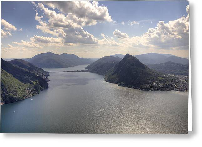 Ticino Greeting Cards - Lugano Greeting Card by Joana Kruse