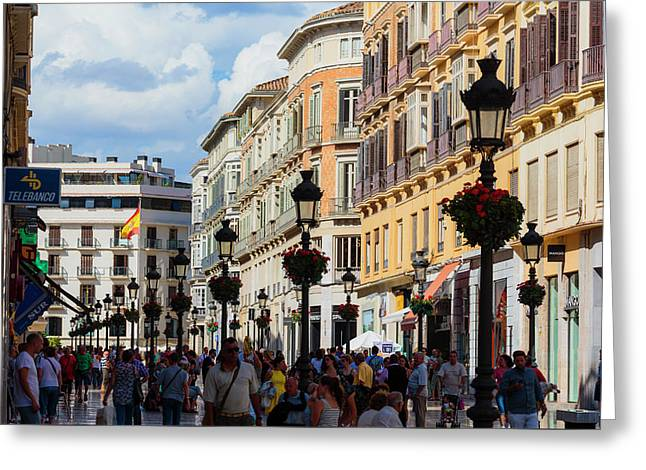 Malaga, Spain Greeting Card by Ken Welsh