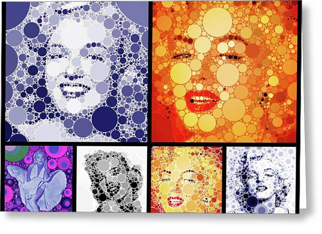 Marilyn Monroe Vintage Hollywood Actress Greeting Card by Esoterica Art Agency