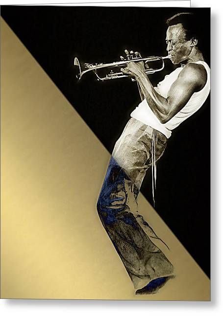 Miles Davis Collection Greeting Card by Marvin Blaine