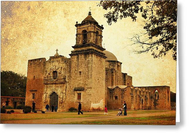 Colonial Architecture Greeting Cards - Mission San Jose Greeting Card by Iris Greenwell