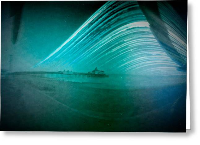6 Month Exposure Of Eastbourne Pier Greeting Card