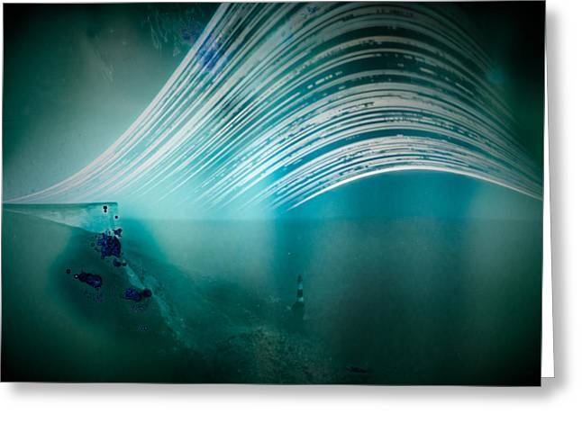 6 Month Exposure Overlooking The Beachy Head Lighthouse Greeting Card
