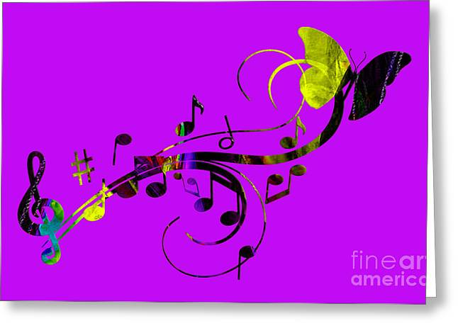 Music Flows Collection Greeting Card