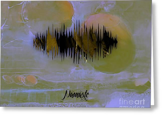 Namaste Spoken Soundwave Greeting Card by Marvin Blaine