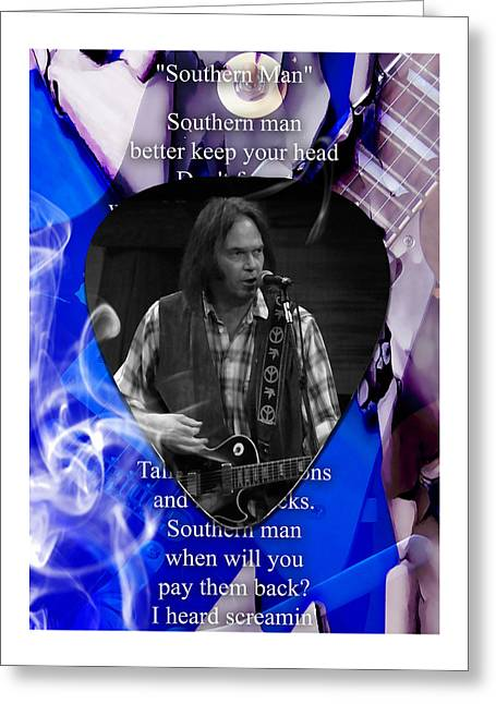 Neil Young Art Greeting Card