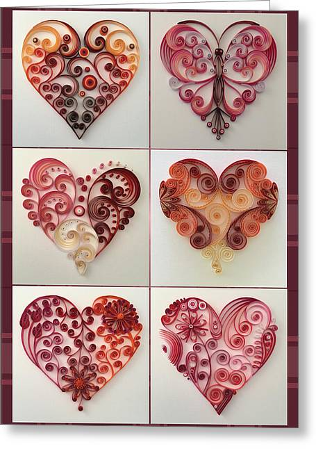6 Of Hearts  Greeting Card by Felecia Dennis