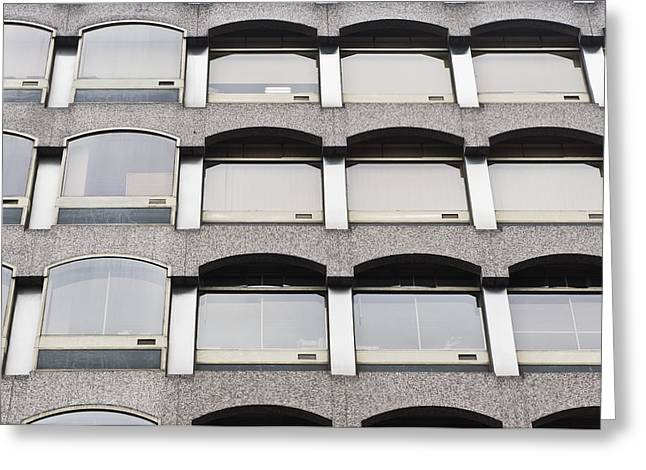Office Building Greeting Card by Tom Gowanlock
