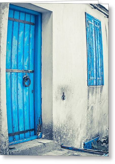 Old House Greeting Card by Tom Gowanlock