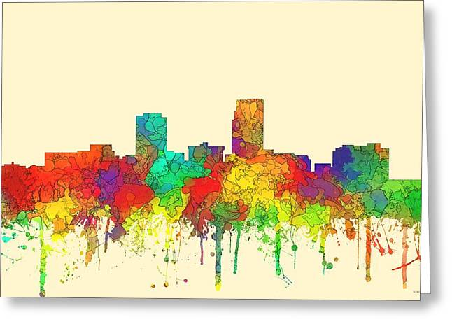 Omaha Nebraska Skyline Greeting Card