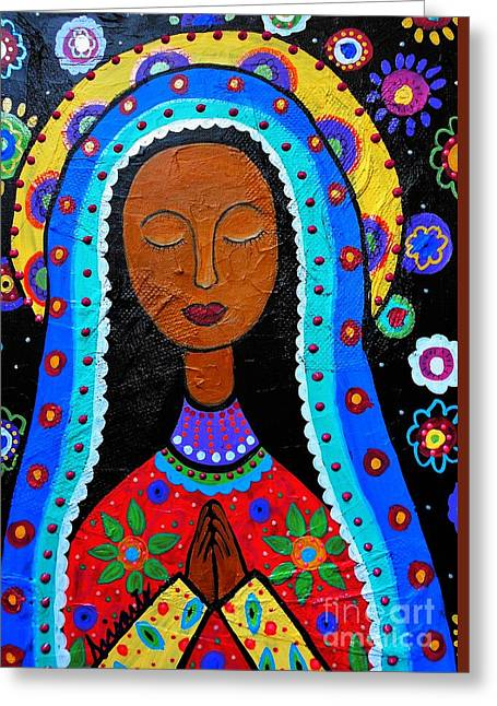 Our Lady Of Guadalupe Greeting Card by Pristine Cartera Turkus