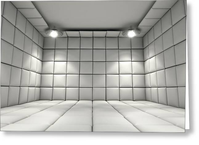 Padded Cell Greeting Card by Allan Swart