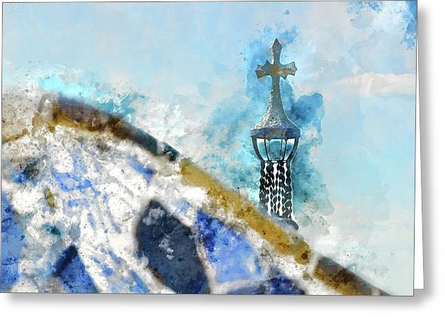 Parc Guell In Barcelona Spain Greeting Card by Brandon Bourdages