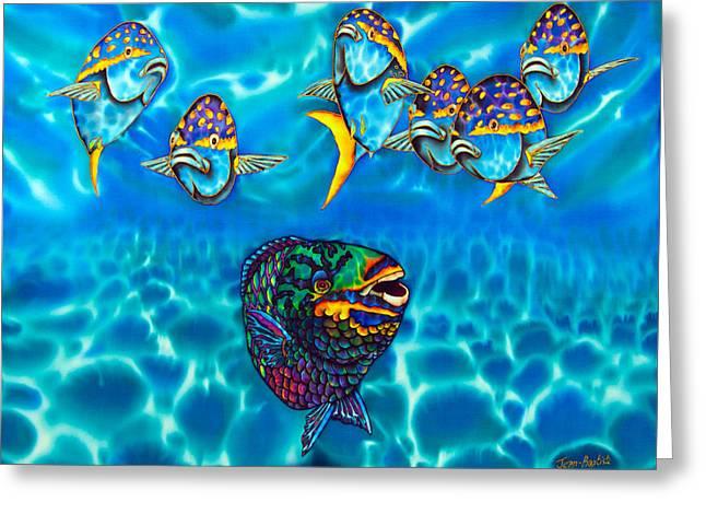 Parrotfish Greeting Card by Daniel Jean-Baptiste