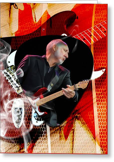 Pete Townshend Art Greeting Card