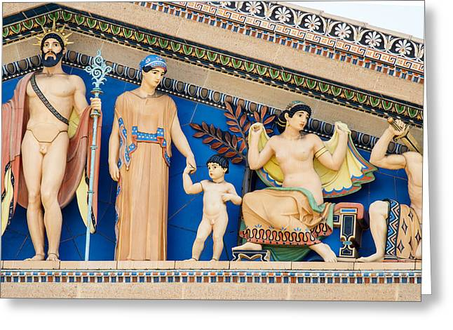 Philadelphia Museum Of Art Greeting Card by Kenneth Grant