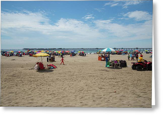 Pimentel Beach Town Greeting Card
