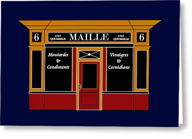 6 Place De La Madeleine A Parisian Shop Greeting Card by Asbjorn Lonvig