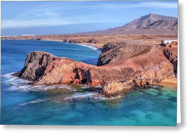Playa Papagayo - Lanzarote Greeting Card by Joana Kruse
