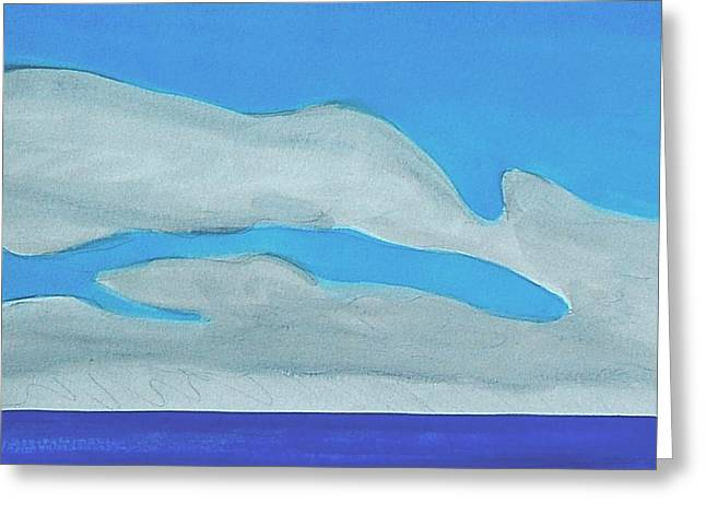 Greeting Card featuring the painting Pompano Beach by Dick Sauer